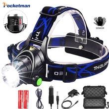 Headlamps 12000lumens Led Headlamp L2/T6 Work Headlight Head Torch LED Flashlight Head lamp by 18650 battery for Fishing Hunting