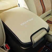 Couro genuíno estilo do carro caixa de apoio braço capa para toyota land cruiser prado 120 2003 2004 2005 2006 2007 2008 2009 acessórios