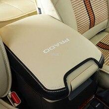 Prawdziwej skóry samochodu stylowy podłokietnik pokrywa skrzynki dla Toyota Land Cruiser Prado 120 2003 2004 2005 2006 2007 2008 2009 akcesoria