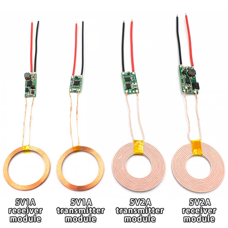 5V 1A/2A Беспроводной Питание модуль беспроводного зарядного устройства приемник передатчик терминал модуль печатной платы набор «сделай сам...