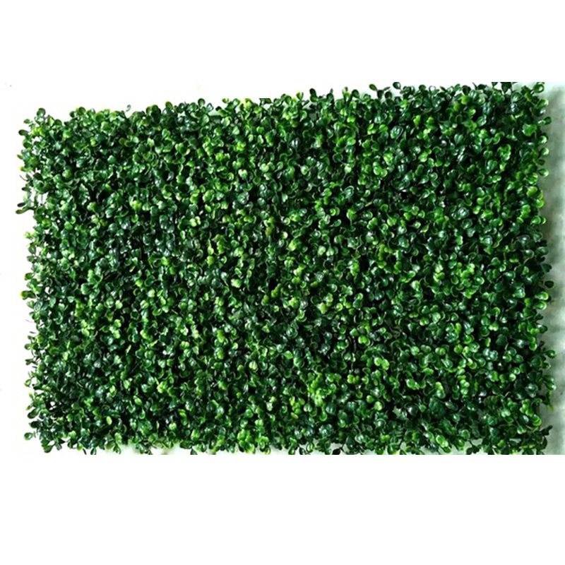 50*50cm Artificial Plant Foliage Hedge Grass Mat Greenery Panel Decor Wall Fence Carpet Real Touch Lawn Moss Fake Grass Mat