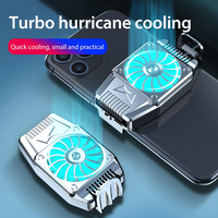 Portable Cooling Fan Phone Gaming Cooler Radiator Cell Phone Snap-on Cooling Tool Game Accessories for 4-6.7 inches Phone