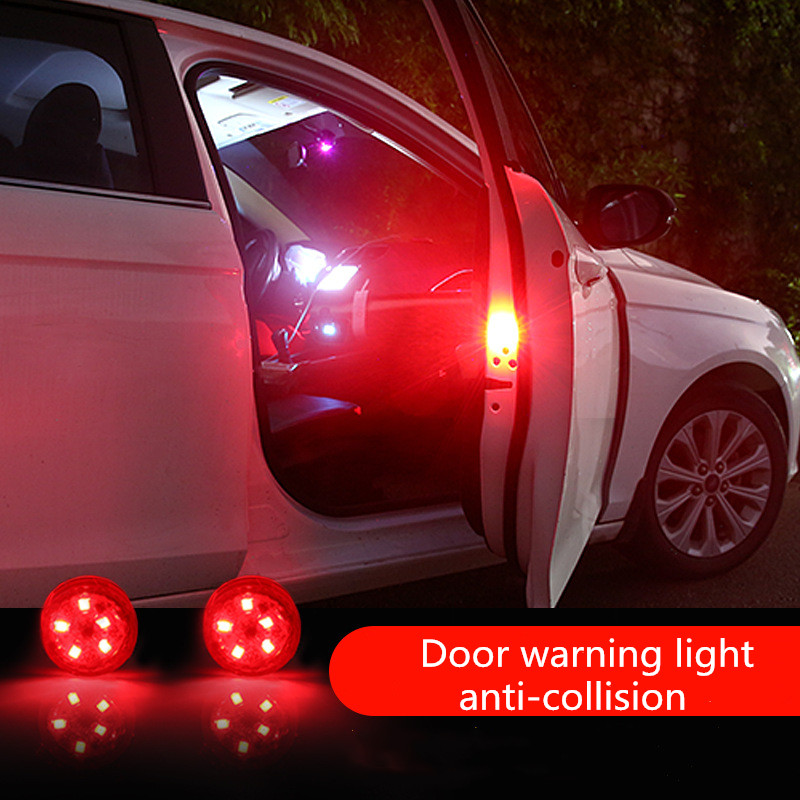 Hot LED Car Door Opening Warning Lights Magnetic Induction Strobe Flashing Anti Rear-end Collision Safety Lamps Car Accessories