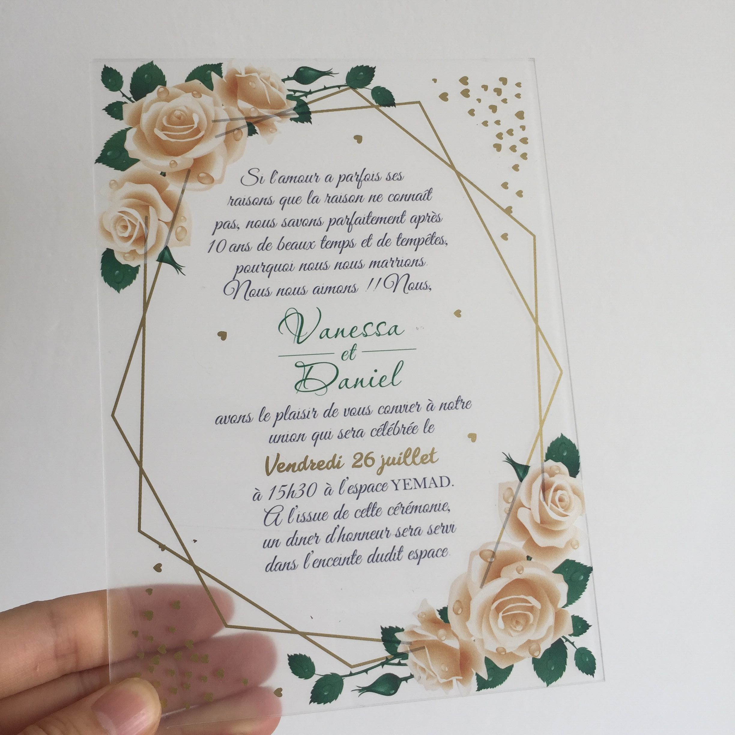 Customized 5x7inch Flower Printing Text