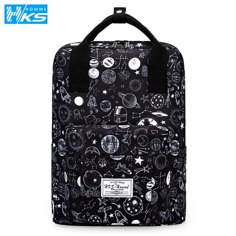 Female Backpack Travel-Shoulder-Bags Teenage Girls Harajuku College Fashion for Boys