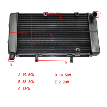 LOPOR Motorcycle Aluminium water cooling cooler Radiator For SUZUKI GK75A 75A GSF400 1991-1994 GSF 400 91 92 93 94
