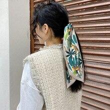 10*90cm Strawberry Scarf For Women Spring Style Long Small Scarf Plant Print Fashion Headband Scarf Wholesale цена 2017