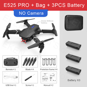 E525 PRO RC Quadcopter Profissional Obstacle Avoidance Drone Dual Camera 1080P 4K Fixed Height Mini Dron Helicopter Toy 8
