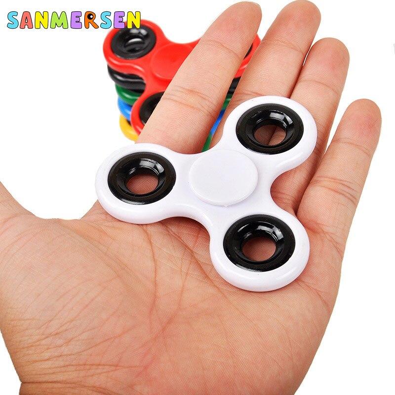 Triangle Finger Top Gyro Toys Long Time Fidget Spinner Fingertip Hand Spiner Spiral Anti Stress Kid Adult Finger Toy Games