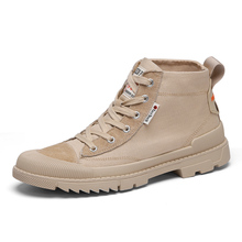 Mens Boots Outdoor Hiking Leather Travel Young Men Canvas 903