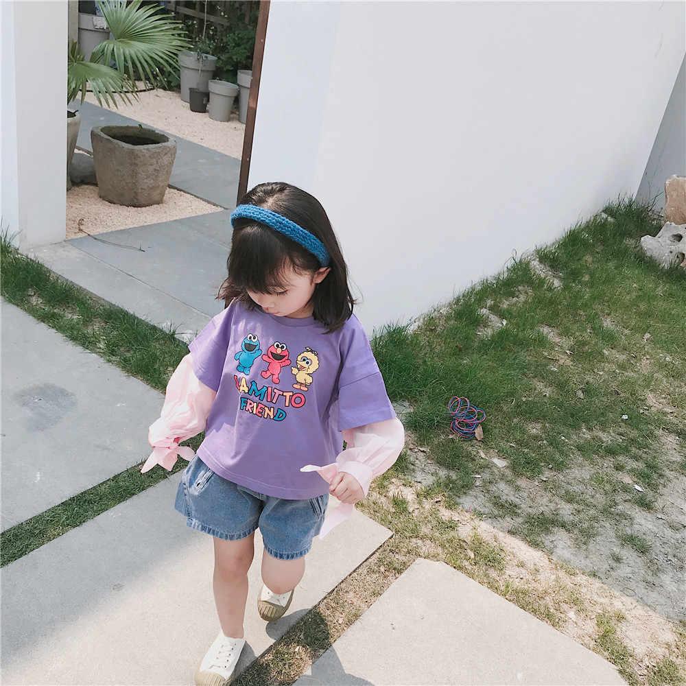 Tonytaobaby automne nouveau bébé fille vêtements pour enfants T-shirt dessin animé filles à manches longues T-shirt