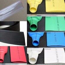 2 м Полиолефиновая 2:1 термоусадочная трубка ROHS UL 30 мм/35 мм/40 мм/45 мм/50 мм/60 мм/70 мм/80 мм черный/красный/желтый/зеленый /синий/белый/прозрачный