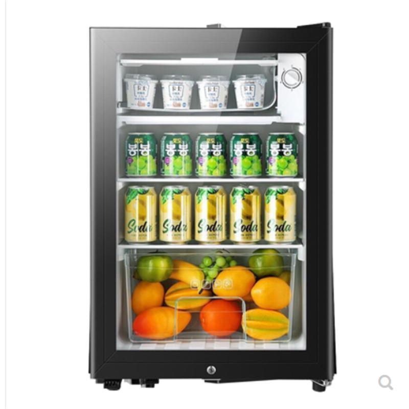 냉장고 90L мини одна дверь холодильник супер емкость ледяной бар холодильное микро замораживания офиса отель бытовой изысканный 220V 1