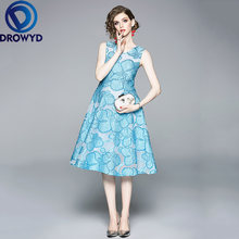 Кружевное платье средней длины для женщин Осеннее корейское
