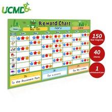 Cartoon Multiple Kids Behavior Chore Star Reward Chart Responsibility Schedule Wall Sticker Fridge Magnets Cards Family Calendar