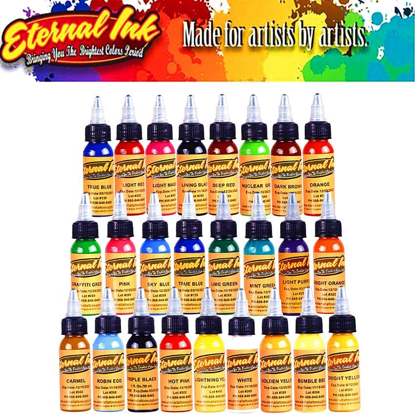 16 Colors 30ml / Bottle Tattoo Ink Black Permanent Body Art Paint Micro Pigment Brown Eyebrow Eyeliner Lip Tattoo Art Beauty Too