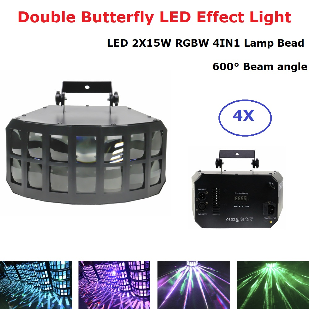 LED Disco Double Butterfly Light For DJ Club Party/LED Effect Light/DMX512 LED Stage Disco Lamp/DJ Equipments /KTV Disco Lights