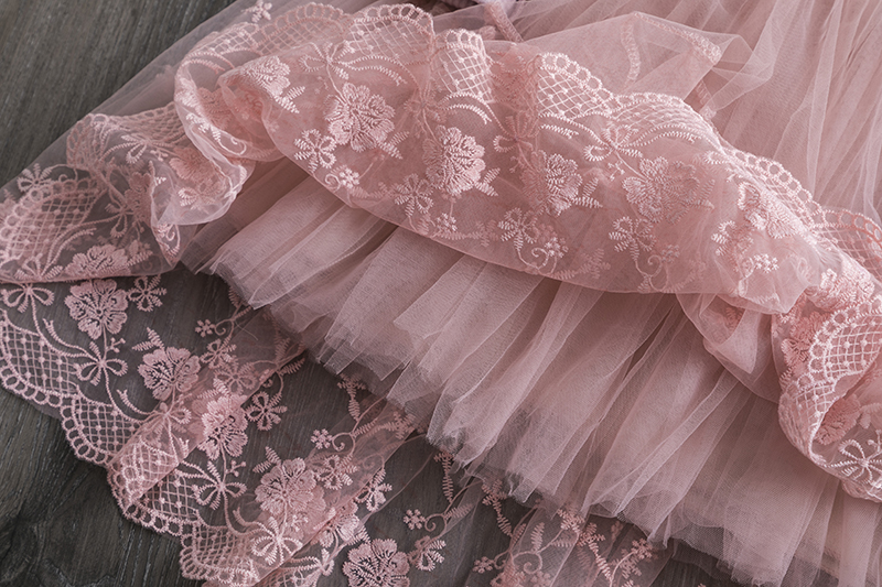 Haf7e1b7f7ab14b40a6e46c143f5b3e69B Red Kids Dresses For Girls Flower Lace Tulle Dress Wedding Little Girl Ceremony Party Birthday Dress Children Autumn Clothing