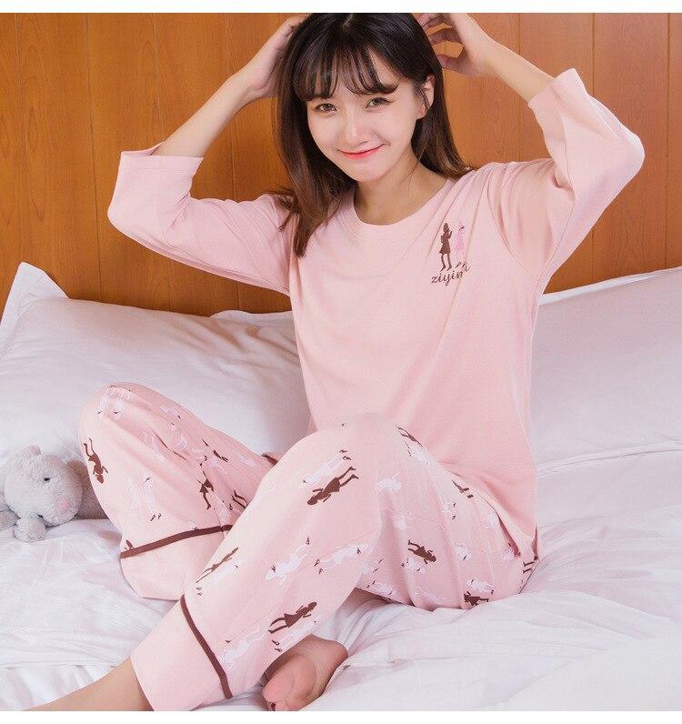 New Style Pajamas Korean-style Women's Creative Fashion Leisure Suit Autumn Long Sleeve Tracksuit Supply Of Goods