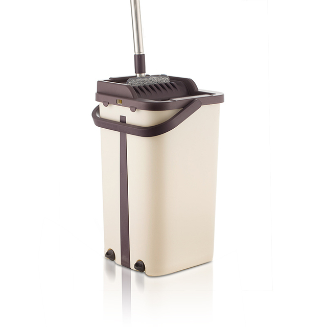 Flat Squeeze Mop and Bucket Hand Free Wringing