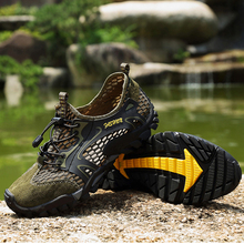 2020 men Summer shoes Breathable Casual Shoes Suede Mesh Outdoor Men Sneakers Sport Quick-dry Water
