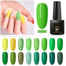 Mtssii Light Yellow Green Colors Series Nail Gel Polish Soak Off Manicure Lacquer UV LED Top Coat Art Varnish