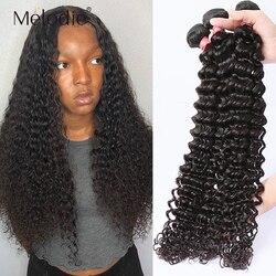 Melodie 28 30 32 40 Polegada pacotes de onda profunda 100% extensão do cabelo humano 1 3 4 pacotes indiano onda de água solta cabelo encaracolado pacotes