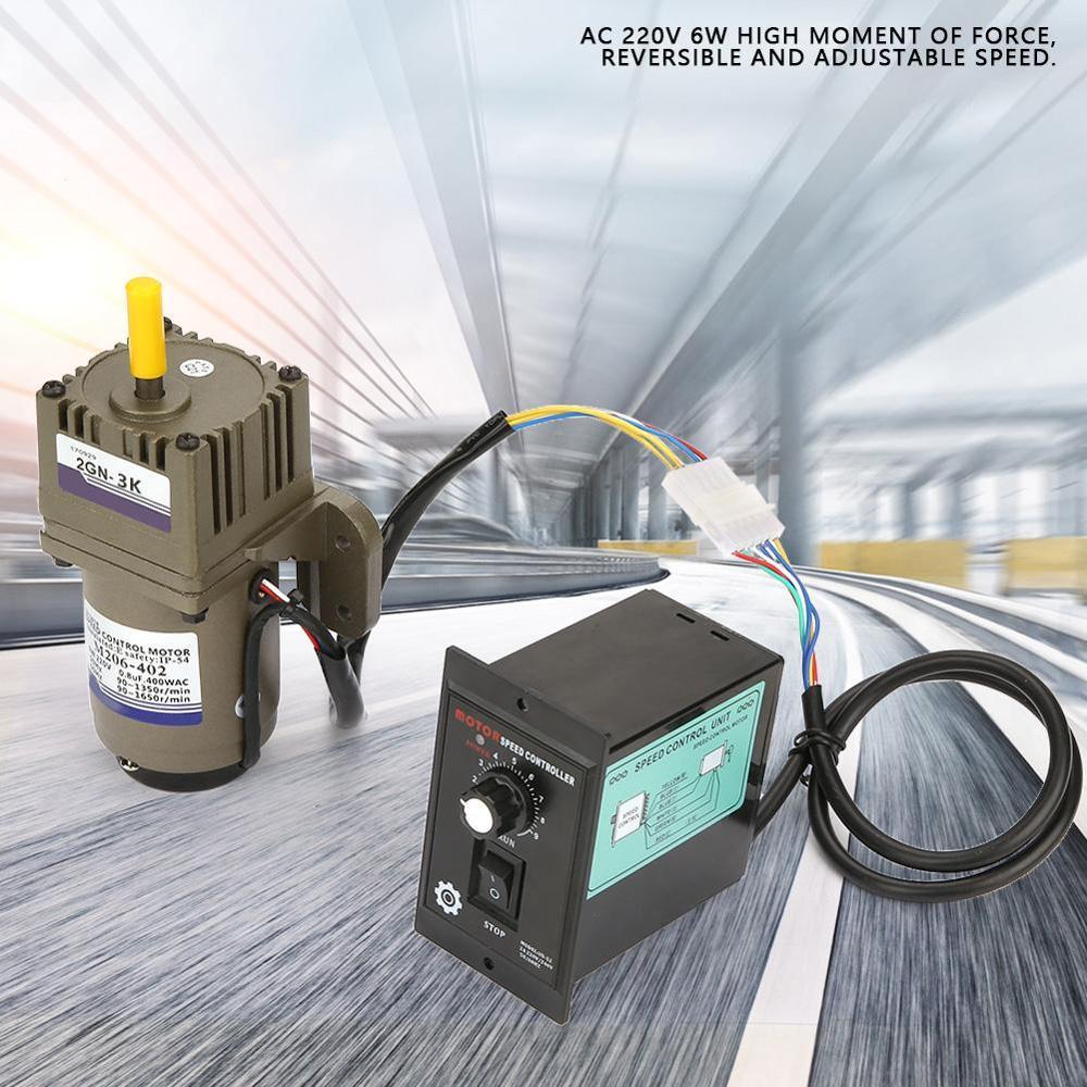 220V 40W Single Phase Asynchronous Motor Deceleration Adjustable Speed 15K Adjustable Speed Gear Motor Single Phase Asynchronous Motor AC Gear Motor