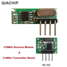 QIACHIP 315mhz RF Transmitter and Receiver Superheterodyne UHF ASK Remote Control Module Kit Smart Low Power For Arduino/ARM/MCU