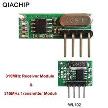 Qiachip 315mhz rf transmissor e receptor superheterodyne uhf pedir kit módulo de controle remoto inteligente baixa potência para arduino/braço/mcu