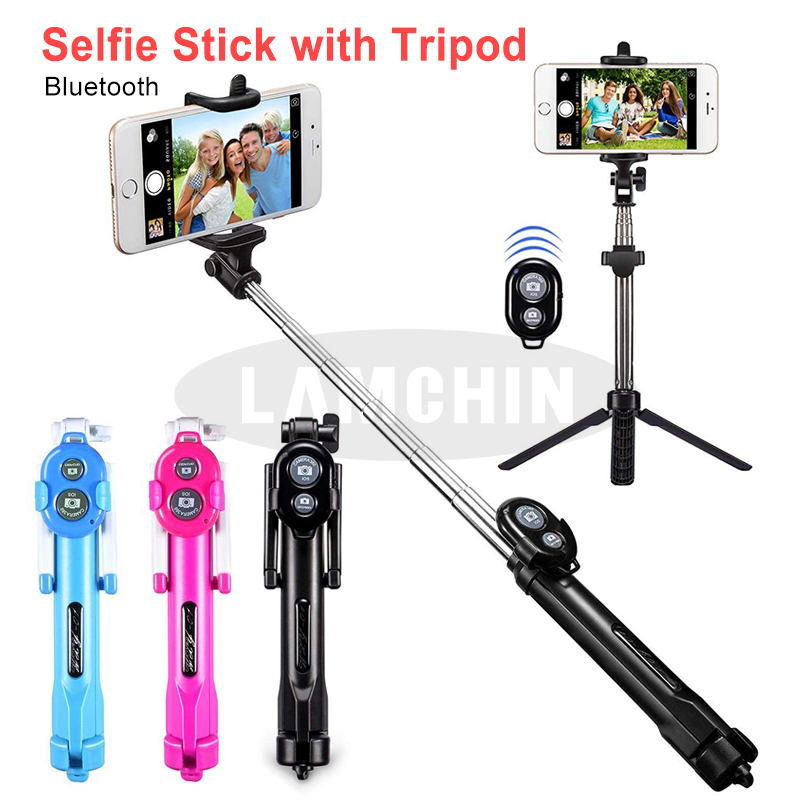 Portable Stick 3 IN 1 Mini Smartphone Monopod Wireless Bluetooth Remote Control Stick Tripod For Xiaomi Huawei