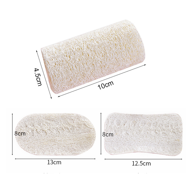 3pcs/set Natural Dish Sponge Loofah Plant Scrubber Cleaning Cloth for Kitchen 2