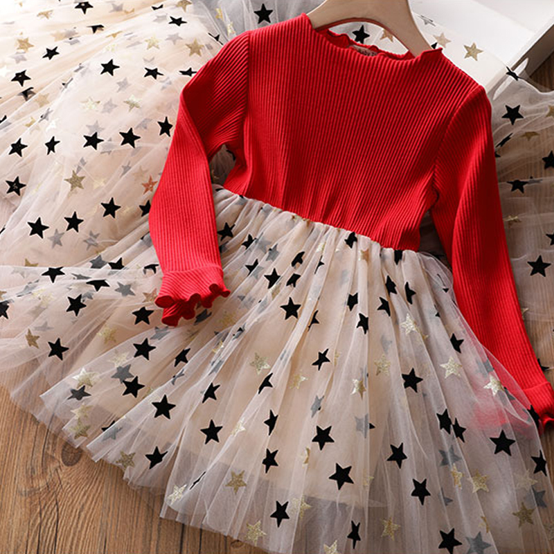 Haf7ee3fa2cd14ab7bf4dc32cfb472b03X Kids Dresses For Girls Long Sleeve Deer Snowflake Print Dress New Year Costume Princess Dress Kids Christmas Clothes Vestidos
