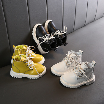 2019 Girls Boys Boots Autumn Winter Infant Toddler Baby Martin Soft bottom Non-slip Child Kids Outdoor Cotton shoes - discount item  30% OFF Children's Shoes