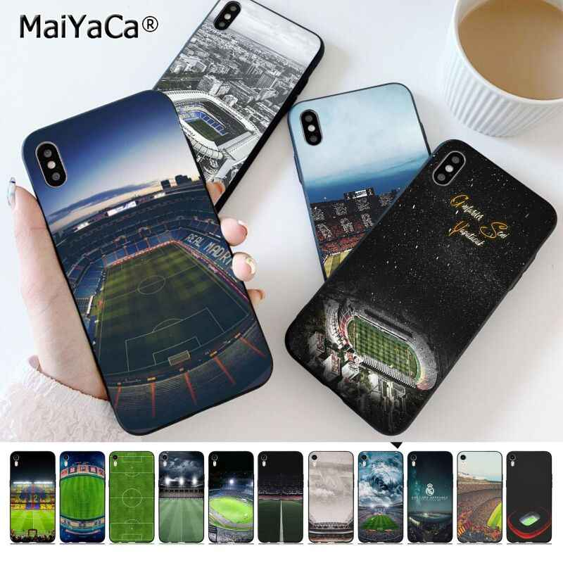 Maiyaca Barcelona Home Stadion Sepak Bola Smart Cover Hitam Shell Ponsel Case untuk iPhone 11 Pro 8 7 66S Plus X XS Max 55S SE XR