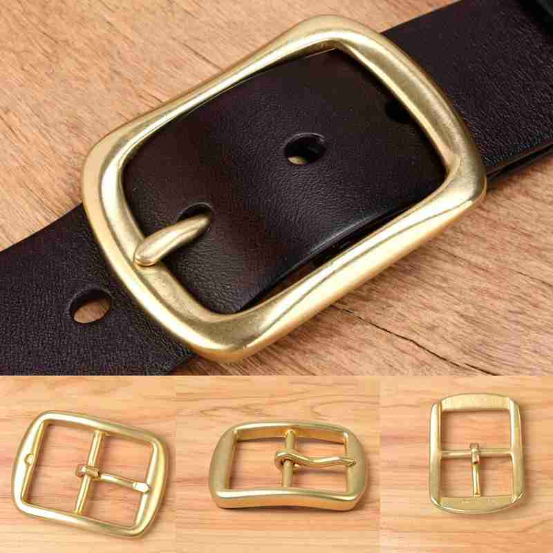 Gold Square Leather Strap Pin Metal Belt Buckles Jeans Belt Decoration DIY Leather Belt Pin Buckle Accessory
