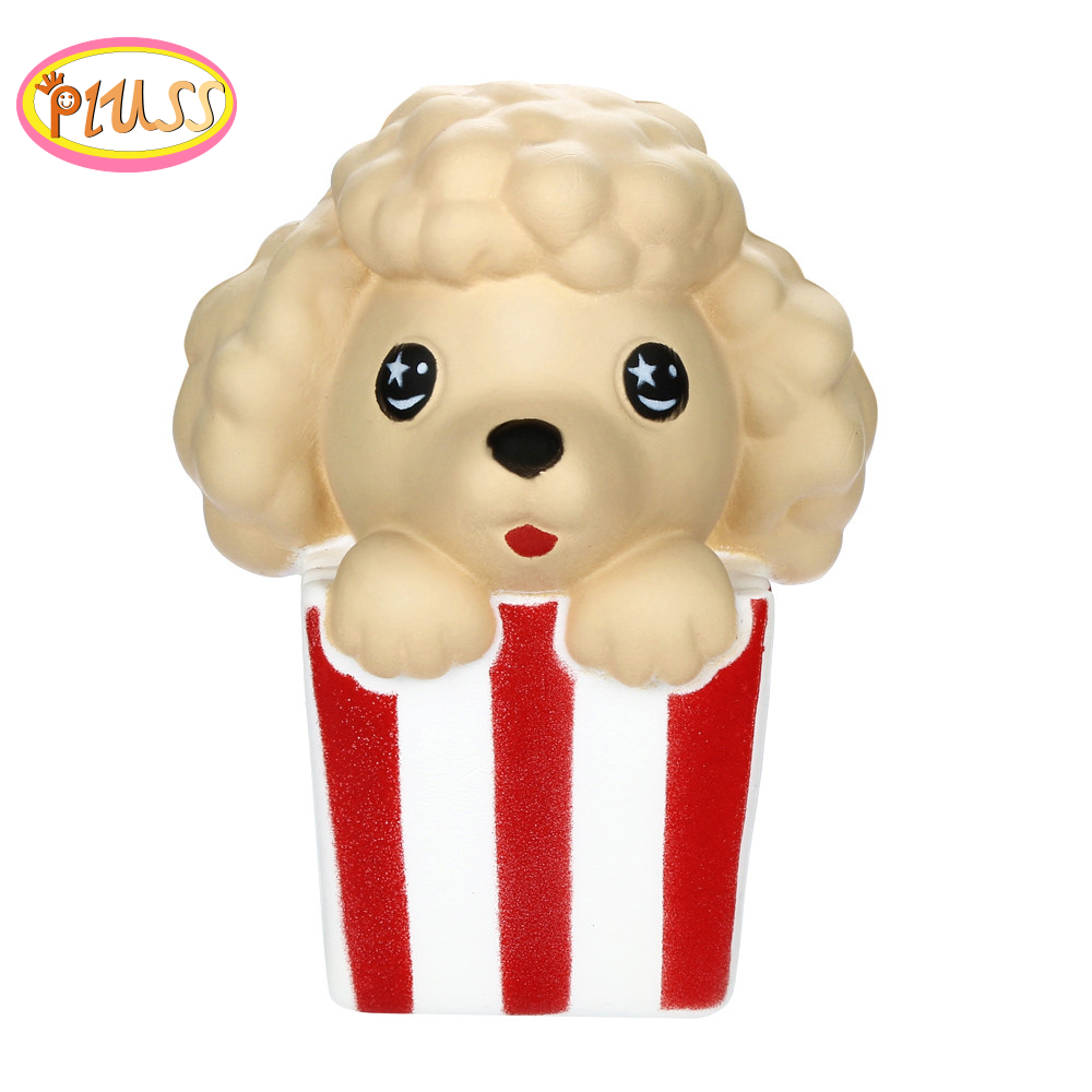 Toys 2019 Cute Popcorn Dog Squishy Slow Rising Scented Soft Squeeze Toy Stress Relief Original Package Funny For Kid Gift Toy