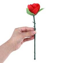 Цветы игрушки для трюков магический дым от пальцев Советы складной Роза появляющийся Волшебные трюки цветок появляющийся исчезает