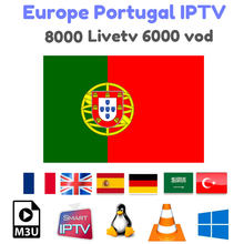 Iptv europa espanha portugal assinatura iptv 8000 + hd livetv para espanha portuga iptv incluir adulto para enigma2 m3u smart tv iptv(China)