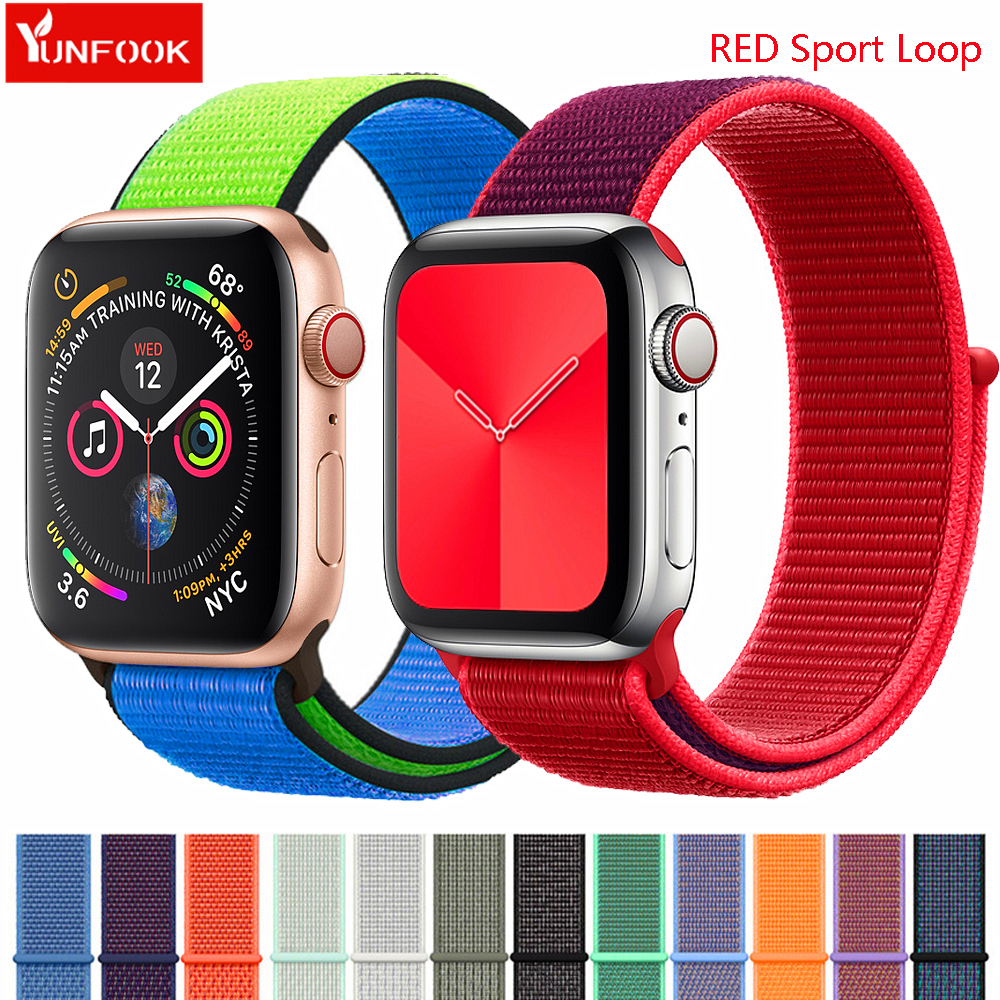 Sport Loop Strap For Apple Watch 5 Band 44mm Correa Nylon Watchband Bracelet Iwatch Band 42mm 38 40mm Bracelet Apple Watch 5 3 4