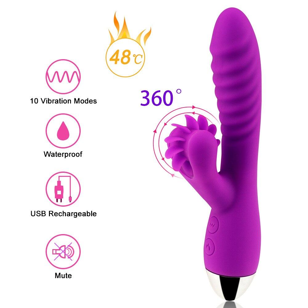 G Spot Heizung Oral Dildo Vibrator Sex Zunge Lecken Klitoris Stimulator Silikon Erwachsene Sex Spielzeug für Frauen Sex Shop