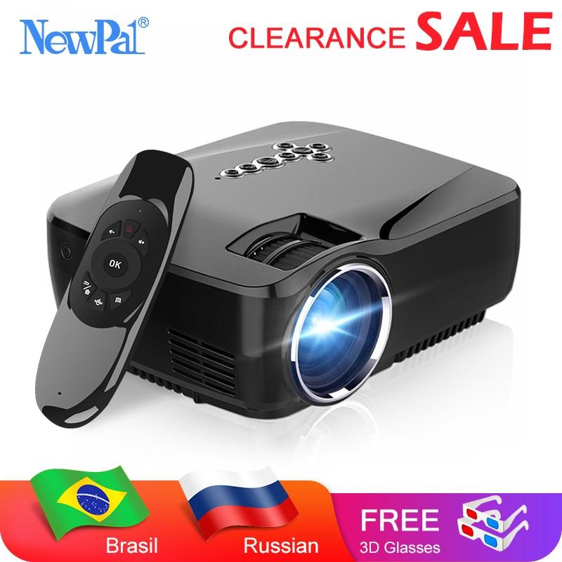 Newpal Mini projecteur à LED portable GP70 (en option Android Bluetooth WiFi) 1200Lumens HDMI prise en charge Full HD 1080P vidéo multimédia