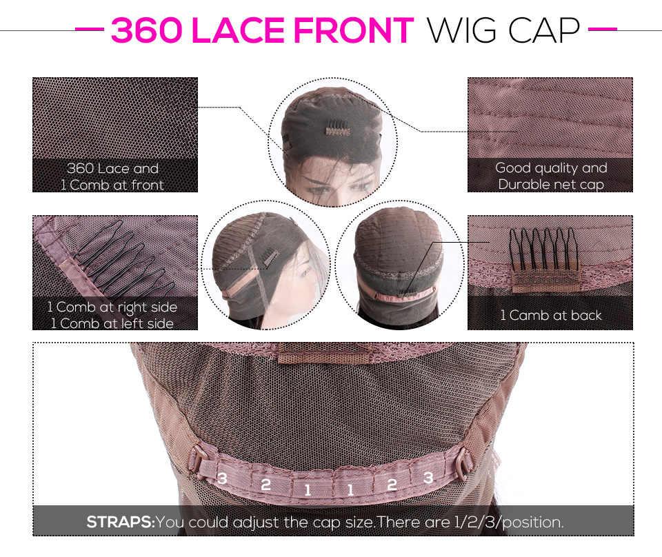 Peluca Frontal de encaje 360, pelucas de cabello humano de onda profunda suelto brasileño, pelo Remy 150%, pelucas de cabello humano Frontal de encaje 13*4
