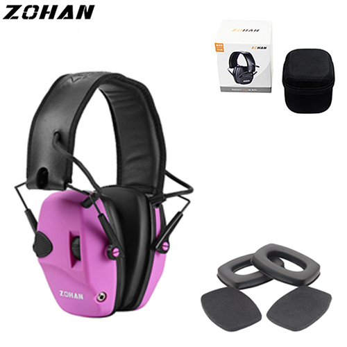 ZoHan Tactical Hunting Earmuffs Hearing Protection Replacement Ear Cup Electronic  Adjustable Noise Reduction