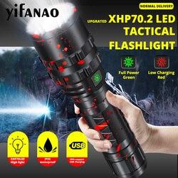 Ультра яркий XHP70.2 светодиодный светильник Xlamp 8000LM мощный XHP50.2 Lanterna для охоты L2 водонепроницаемый фонарь светильник использовать 18650 26650