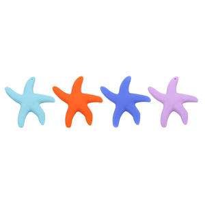 Silicone Teething-Pendant Beads Starfish Tooth-Training-Toys Chewing Bpa-Free Baby Dancing