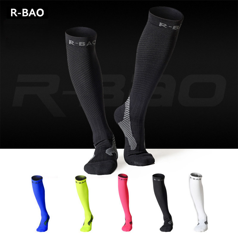 Professional Adults Cycling Socks Men Women Night Running Long Socks Compression Function Stocking Leggings Socks