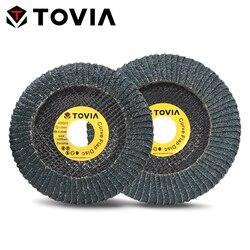 TOVIA 125mm Curve Flap Disc Zirconia Radial Abrasive Disc 115mm Grind Polish Metal Stainless Steel Flap Sanding Disc 40/60Grit
