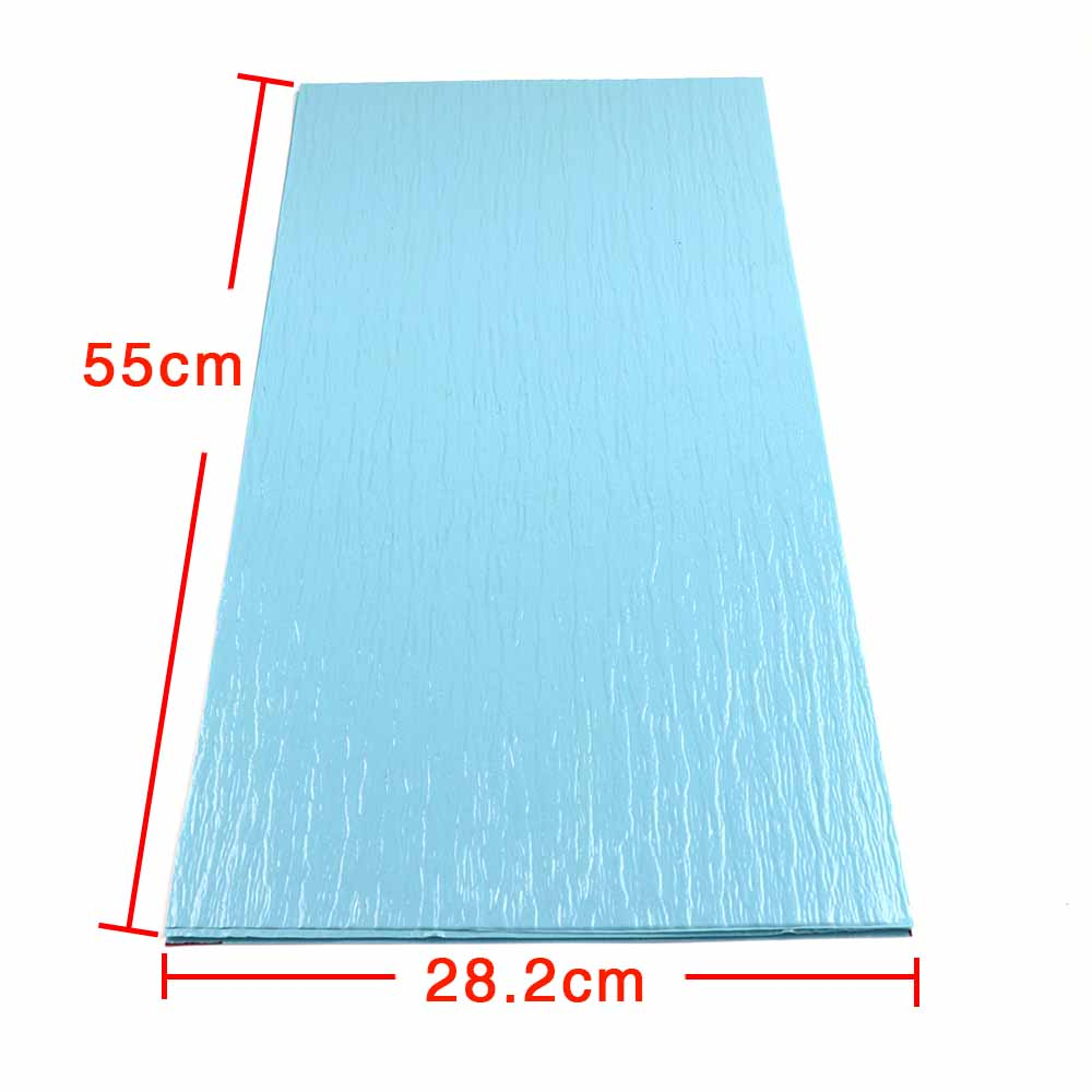 DIY PVC Blue Color Pattern Building Lake Water Wave Film Landscape Model Water Surface Ripple Simulation Surface 1pc