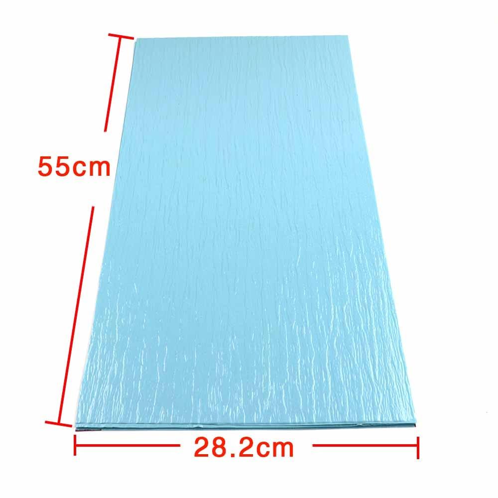 DIY PVC blue color pattern building lake water wave film landscape model surface ripple simulation